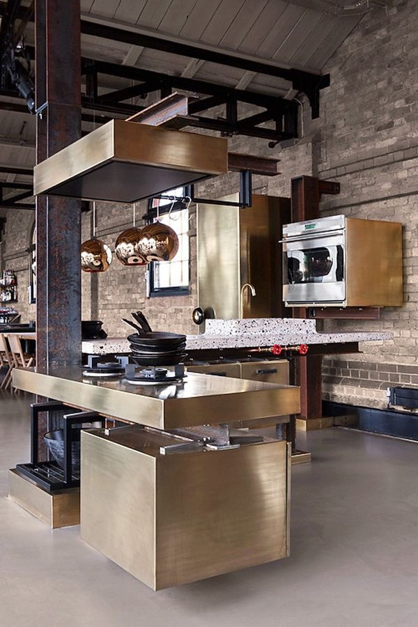 Copper Pendant by Tom Dixon http://ecc.co.nz/lighting/indoor/pendants-chandeliers/contemporary/copper-shade  The TD Beam kitchen designed by Tom Dixon & Lindholdt Studio in collaboration with Ekoij.