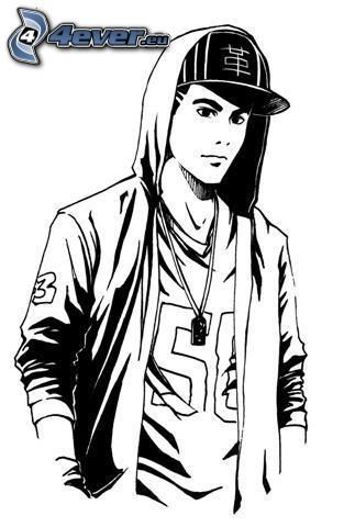 Hip hop gar on dessins pinterest hip hop - Coloriage hip hop ...