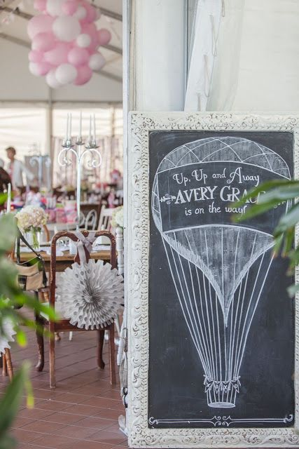 Vintage Modern Mom: Avery's Vintage Hot Air Balloon Baby Shower