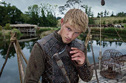 Alexander Ludwig from the History Channel's Vikings as Bjorn. CAMRYN!! I JUST SAW HIM ON THE SHOW!! @Camryn Brown