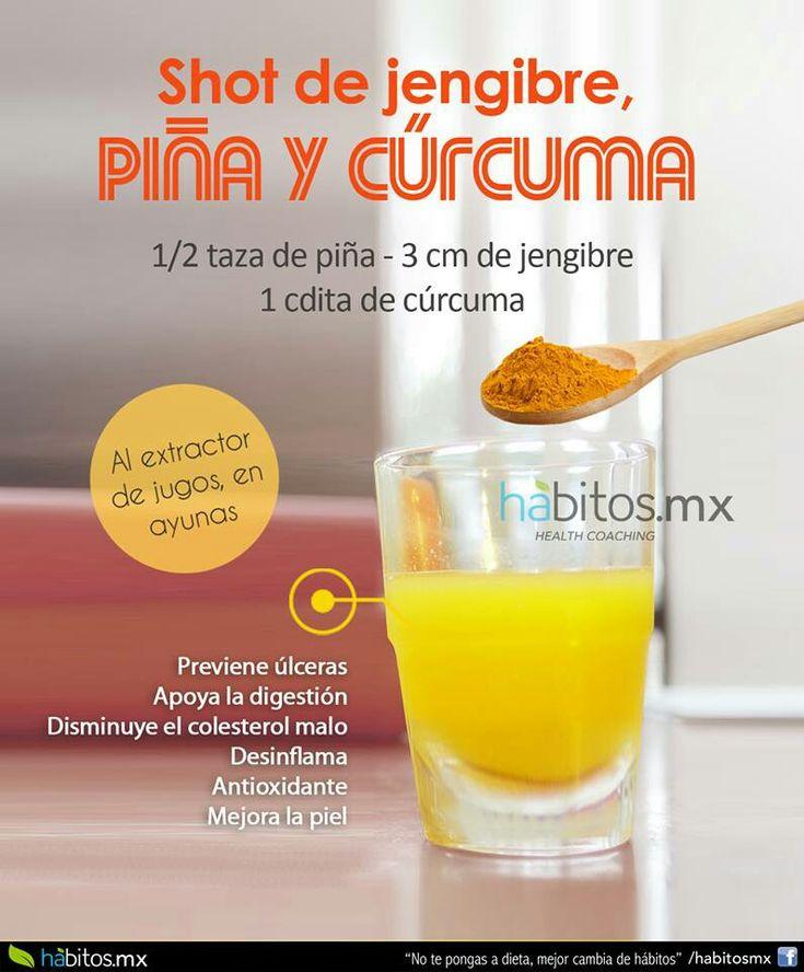 Shot piña y curcuma