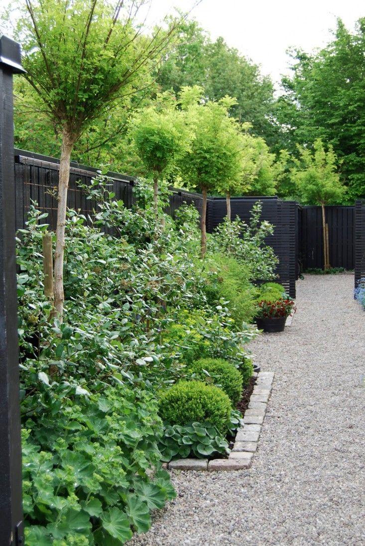 black fence.