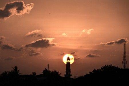 Sunardi: Sunset time at Bekasi, West Java