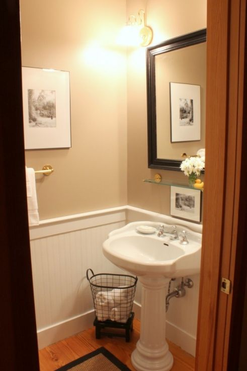 Best 25 tiny half bath ideas on pinterest rustic shelves half baths and small toilet room - Small half bathroom design ...