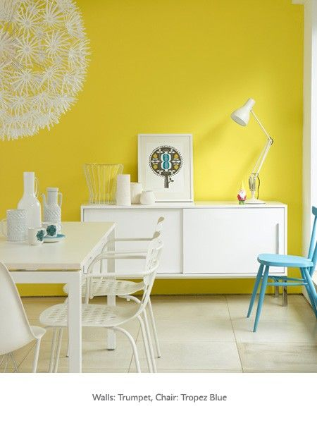 Wow yellow wall - from  Little Greene Paint