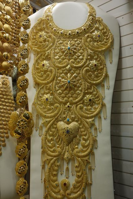 Gold Necklaces Designs In Dubai Gold Necklace On Display