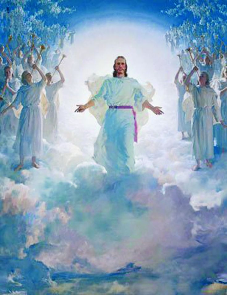 The Second Coming by Harry Anderson is a beautiful, inspiring depiction of the return of Christ in the Last Days. He is shown in strength and majesty with arms outstretched, and surrounded by concourses of beautiful maiden angels that are triumphantly heralding his return to Earth. This picture can be found in hundreds of ...