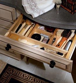 Drawer Dividers Organize Your Vanity Or Sink Base With This Wooden Divider Insert