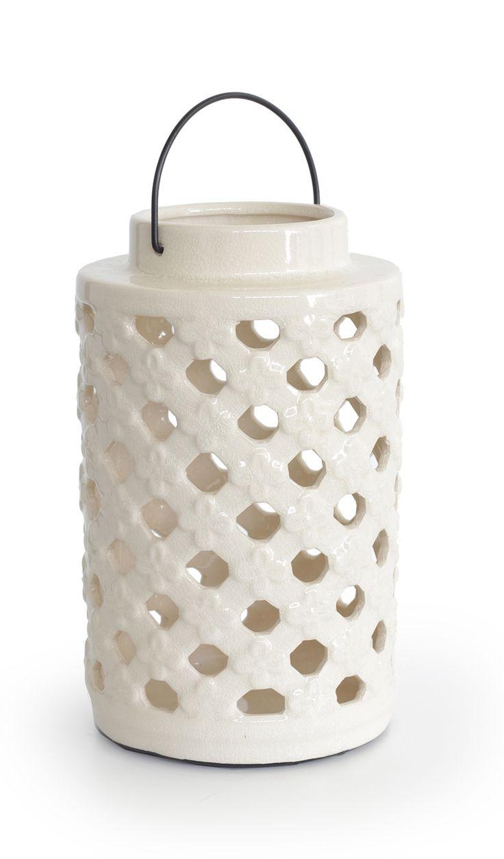Φανάρι κεραμικό Εκρού http://www.lovedeco.gr/p.Fanari-keramiko-Ekroy.854506.html