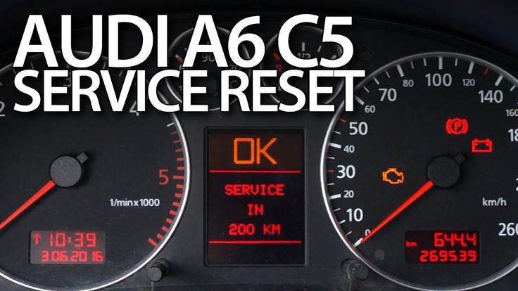 How to #reset #service reminder in #Audi #A6 #C5 oil inspection #maintenance #AudiA6C5 #cars #diy #tutorial