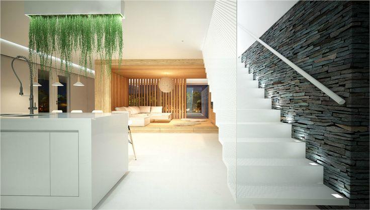 modern wood livingroom