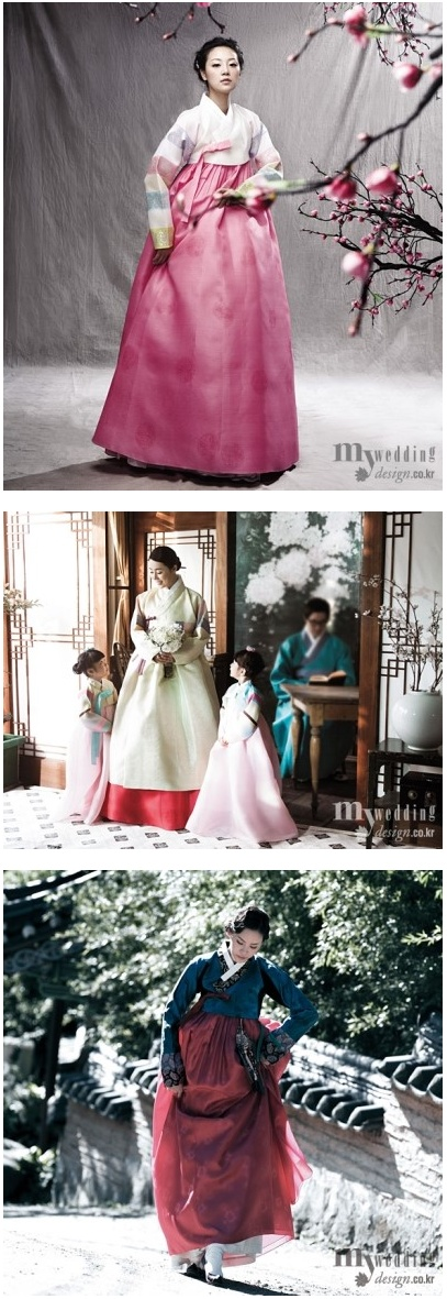 in Korean dress hanbok1