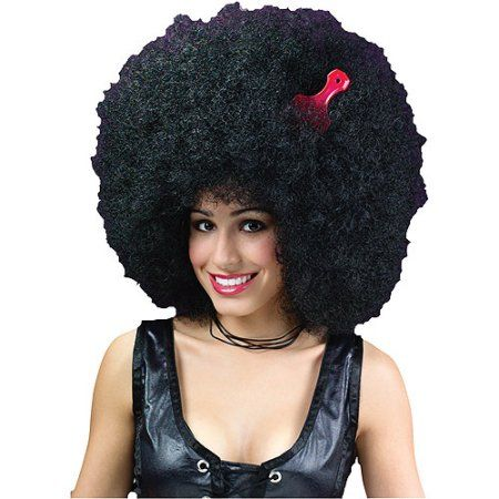 Super Jumbo Afro Wig Adult Halloween Accessory, Women's, Black