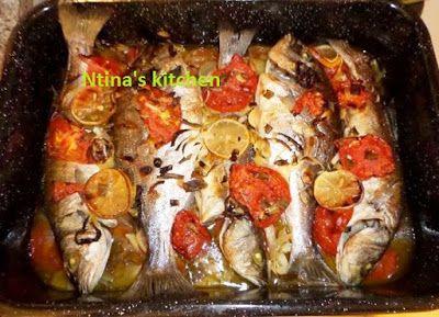 ntina's kitchen: Ψάρι πλακί στο φούρνο