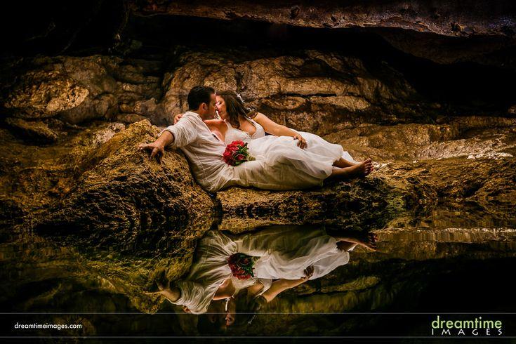 Cenote TTD session. Near Isla de la Pasión. http://dreamtimeimages.com/blog/passion-island-wedding-photography-isla-del-passion-mexico-kelly-jason/