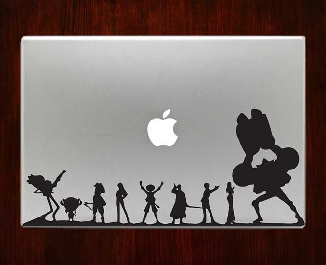 One piece luffy decal sticker vinyl for macbook pro air 13 inch 15
