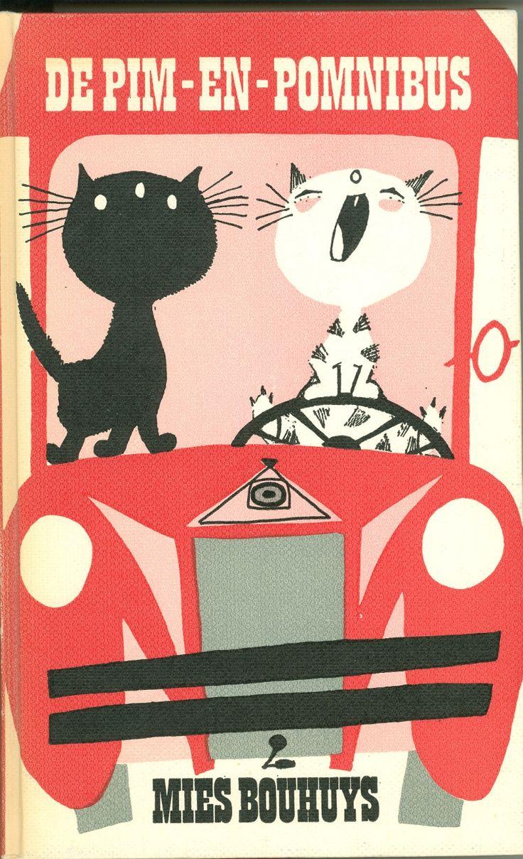 """Fiep Westendorp : Cover art for """"De Pim-en-Pomnibus, written by Mies Bouhuys"""