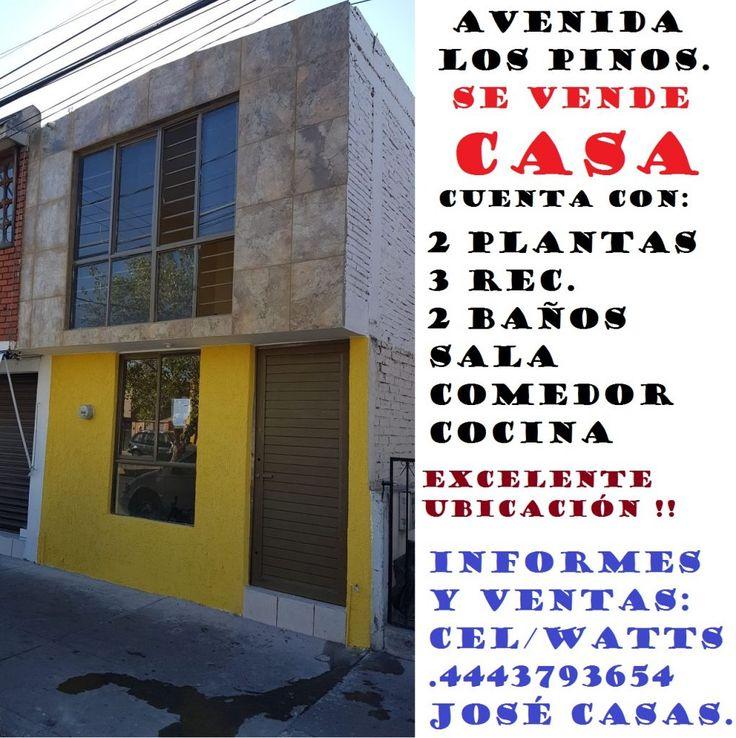 Se Vende Casa en Av. Los Pinos en San Luis Potosí. – Venta De Casas En San Luis Potosì