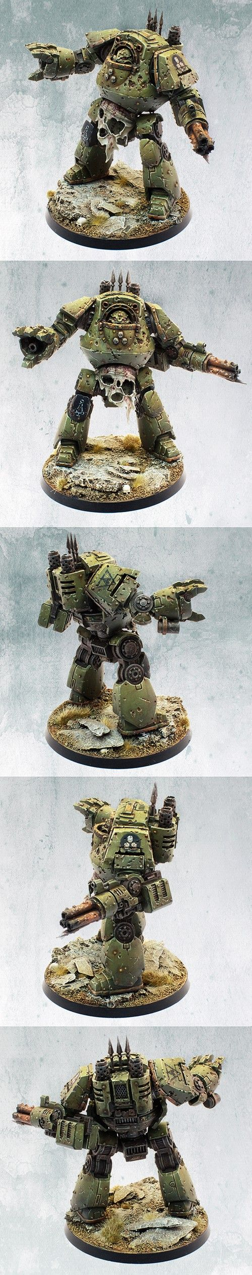 CoolMiniOrNot - Nurgle Death Guard Chaos Space Marine Contemptor Dreadnought by itshammertime!