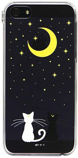Official Bandai Premium Japanese Sailor Moon Artemis and Luna Cell Phone / Mobile Phone Cover for iPhone 4/4S, iPhone 5, Galaxy SIII / S4