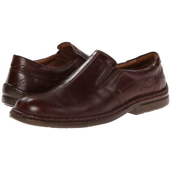 Josef Seibel Vance (Marone) Men's Slip on  Shoes ($150) ❤ liked on Polyvore featuring men's fashion, men's shoes, mens leather slip on shoes, mens leather loafer shoes, mens slipon shoes, mens loafers and mens slip on loafers