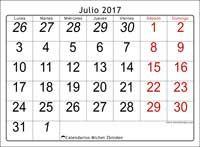 Calendario julio 2017, Oseus