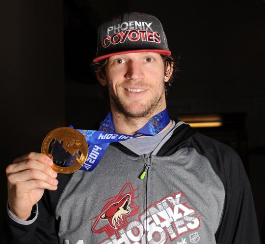 The Coyotes now golden goalie, Mike Smith.