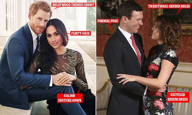 Eugenie S Engagement Portraits Vs Harry And Meghan S Engagement