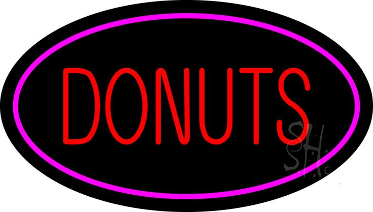 Donuts Logo Oval Pink Neon Sign 17 Tall x 30 Wide x 3 Deep, is 100% Handcrafted with Real Glass Tube Neon Sign. !!! Made in USA !!!  Colors on the sign are Pink and Red. Donuts Logo Oval Pink Neon Sign is high impact, eye catching, real glass tube neon sign. This characteristic glow can attract customers like nothing else, virtually burning your identity into the minds of potential and future customers.