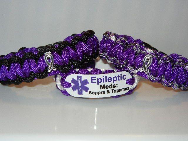 Epilepsy medic alert  http://shop.bestparacordstraps.com/Epilepsy-Awareness-Bracelets_c44.htm