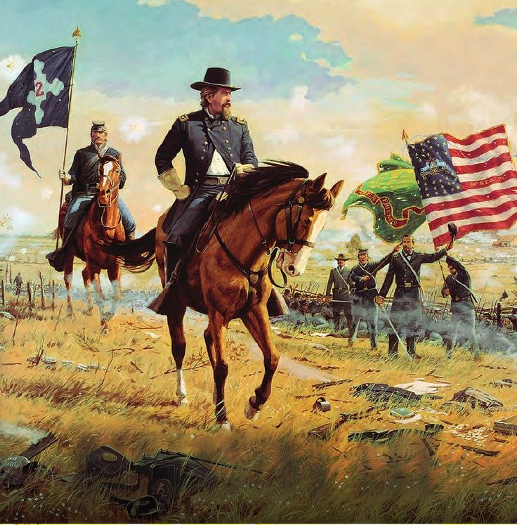Hancock's Ride by Dale Gallon - A wonderful depiction of Gen. Hancock's ride along his line during the cannonade preceding Pickett's Charge on July 3, 1863 at Gettysburg.