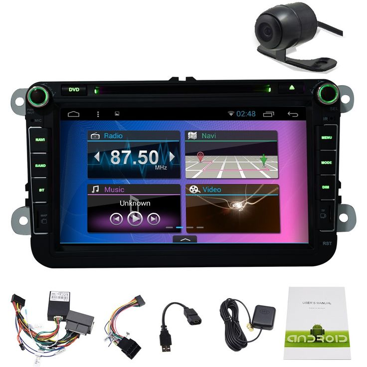 Fastest Android Car Stereo Videos GPS Navigation System ready For VW Volkswagen Jetta Golf 7 Skoda Passat with Multi-Touch Screen Autoradio Car DVD player Radio Headunit,wifi Internet, USB/SD, AUX Input+FREE CANBUS+Colorful button