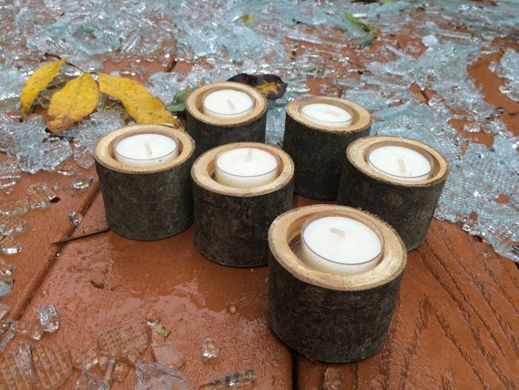 Set of 6 Tree Branch Candles. Perfect for home décor, and fantastic for outdoor parties. Place a few around your outdoor patio, desk, kitchen, bathroom, or bedroom.