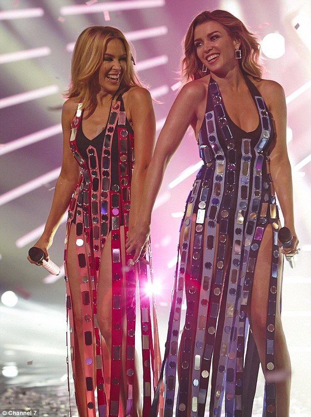 Open: Kylie Minogue revealed she and her sister Dannii were 'quite liberated' when it came to changing in front of one another