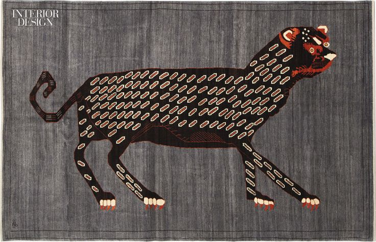 Orley Shabahang Animates Leopards and Lions With its Animal Rug Designs