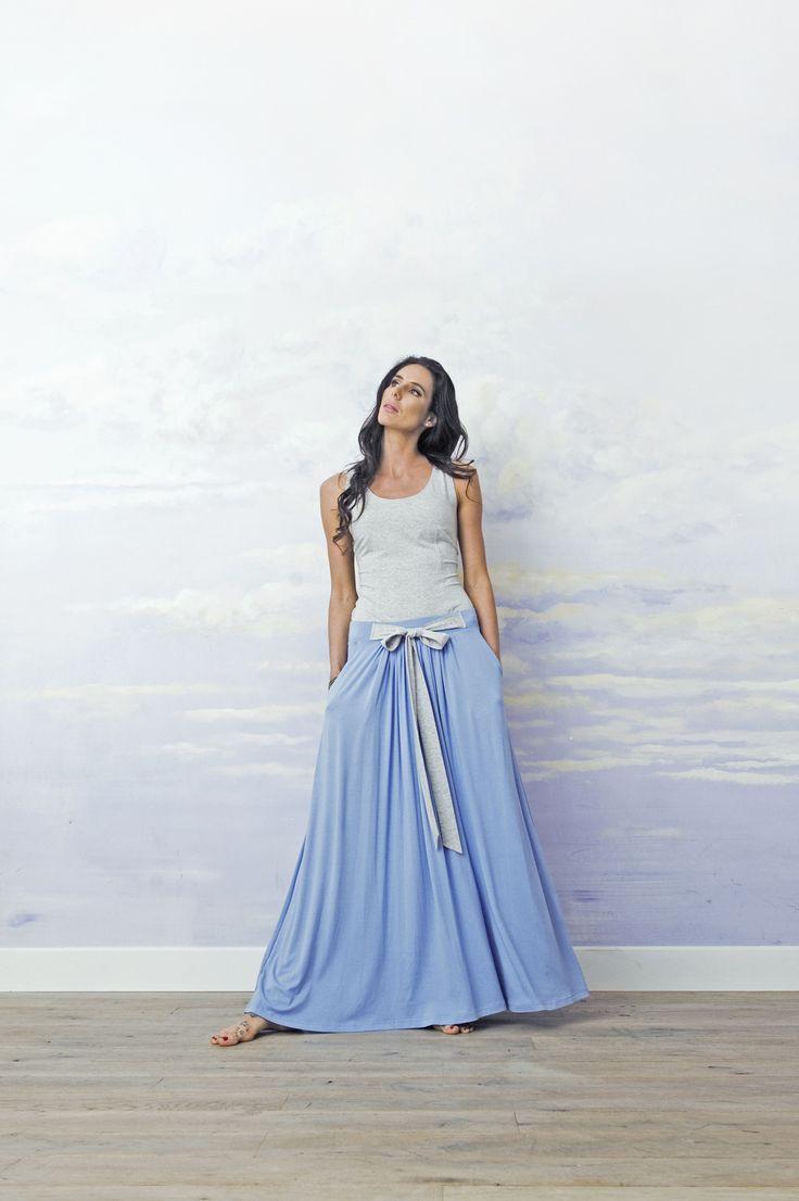 Blue long skirt