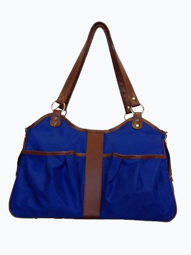 Petote Metro Dog Carrier Bags with 2 Open Pockets, Cobalt Blue, Small