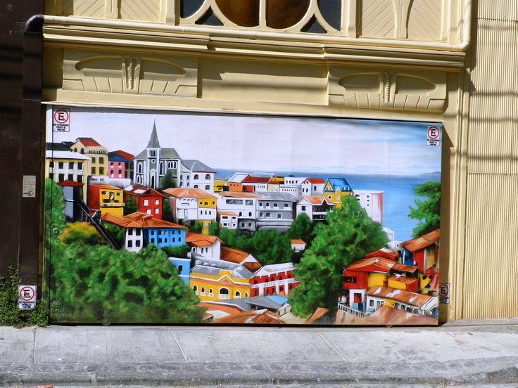 Mural en cerros de Valparaiso