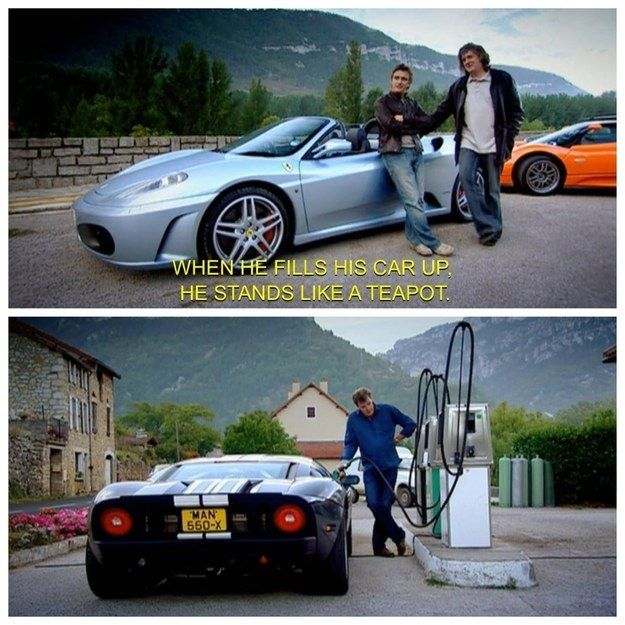 "When the boys pointed out Jeremy's technique. | 27 Times ""Top Gear"" Made You Laugh Like Hell"