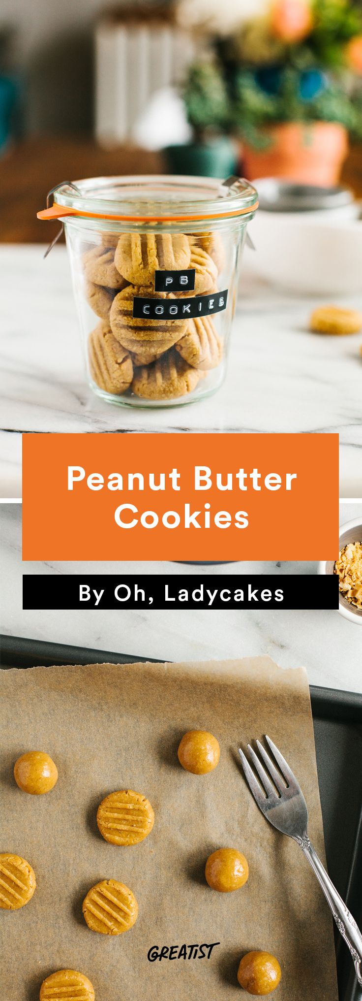 3. Peanut Butter Cookies #Nondairy #dessert #recipes http://greatist.com/eat/non-dairy-dessert-recipes