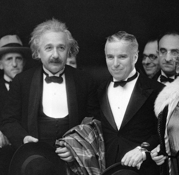 Альберт Эйнштейн и Чарли Чаплин. 1931 год