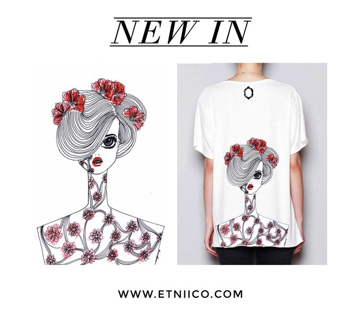 When art meets fashion, extraordinary things happen and the result is amazing. MERRNOIRE, takes you to a voyage through her creative universe with her designs. See more of this new at ETNIICO designer: www.etniico.com  #Tshirts #Tee #GraphicTee #Fashion #Art #Woman #Style #Design #Exclusive #Designers #ShopOnline #Etniico