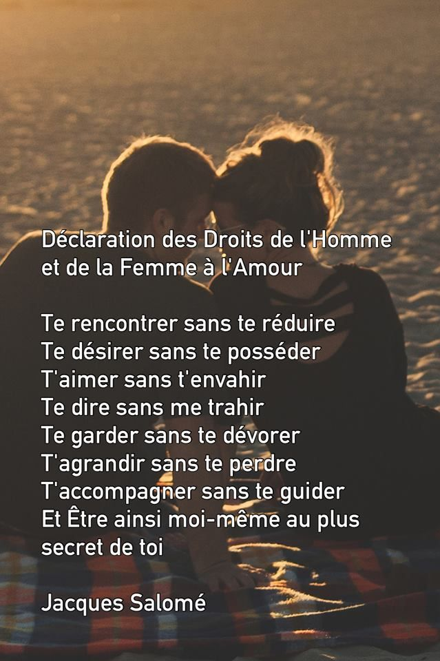 Te rencontrer, te désirer, t'aimer, te garder, t'accompagner... T'aimer !