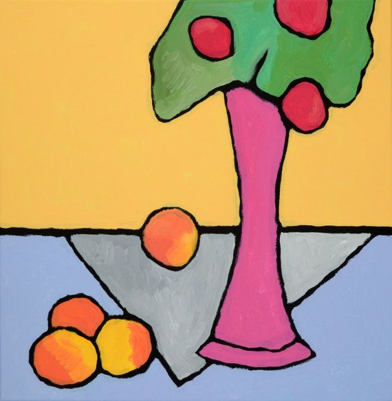 Original painting Still life Fruits and by ArtFactoryGallery