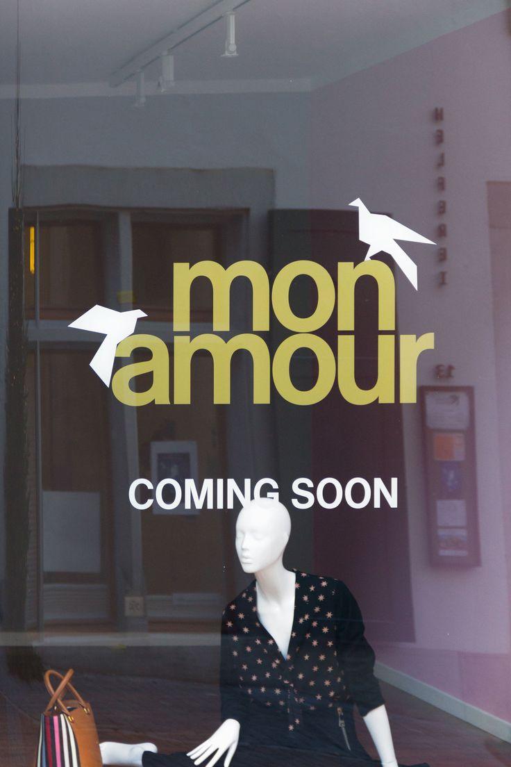 shopwindow campaign for boutique mon amour in zurich