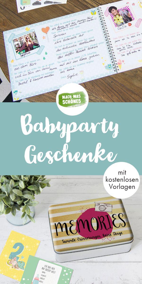 Babyparty-Geschenk leicht gemacht – Entdecken Sie unser Babyparty-Gästebuch, Babyparty …   – Mama-Tricks