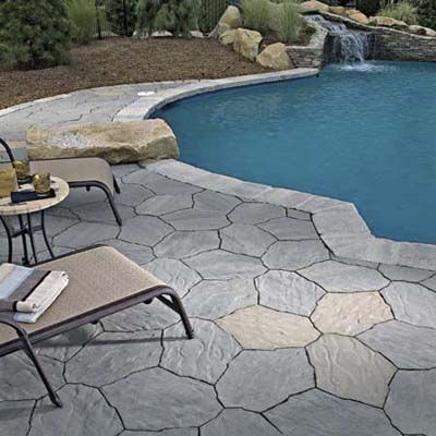 27 best images about pavers on pinterest swimming pool Flagstone pavers around pool