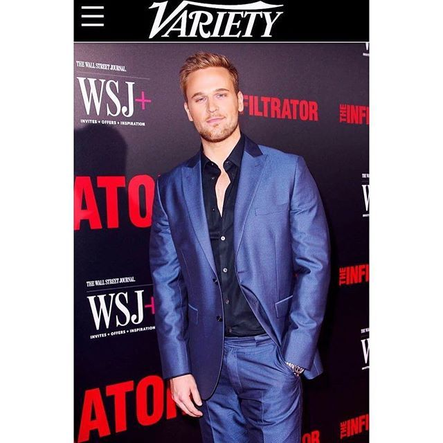 #tb Dan Amboyer in Stephen F whole look from The Infiltrator Red Carpet NY Premiere @variety. worldstephenf #menswear #mensfashion #mensfashionpost #menstyle #menwithclass #menwithstyle #streetstyle #ootd #outfitoftheday #nyc #newyork #luxury #designerbrand #madeinitlay
