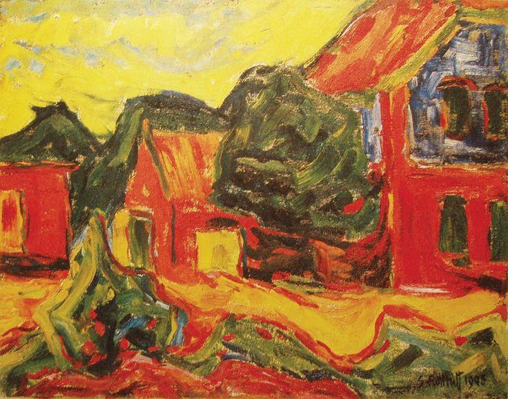 Na Stanici, Karl Schmidt-Rottluff, 1908