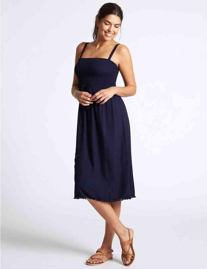 90a1fd7f5c5 Shirred Beach Dress
